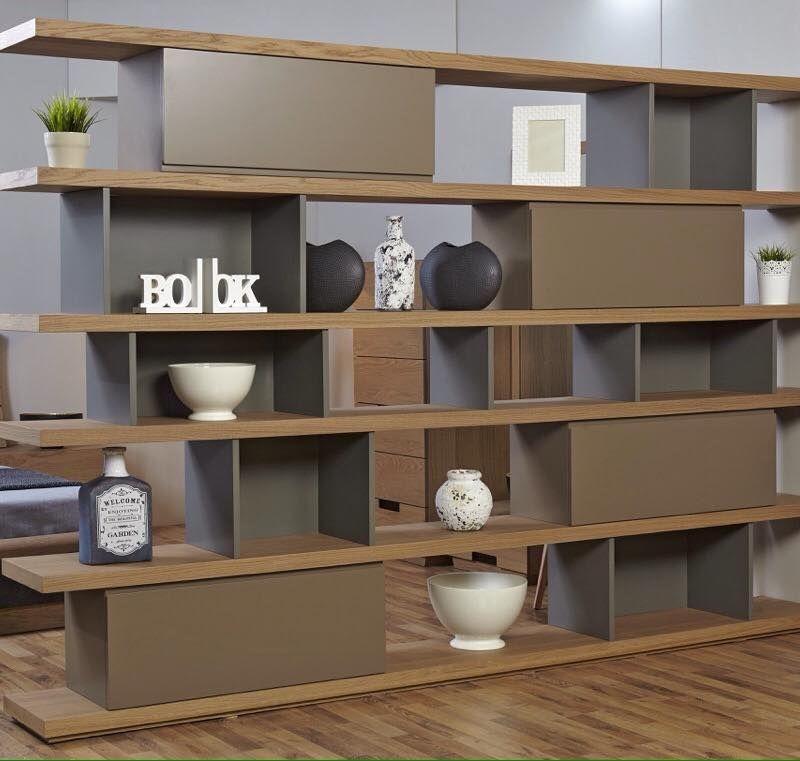 Βιβλιοθήκη- Διαχωριστικό Wood
